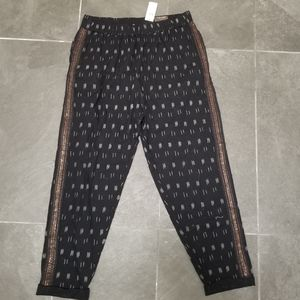 NWT Anthropologie embellished crop pants small